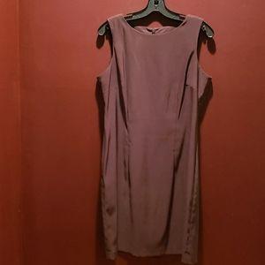 Classic Brown Sheath Dress